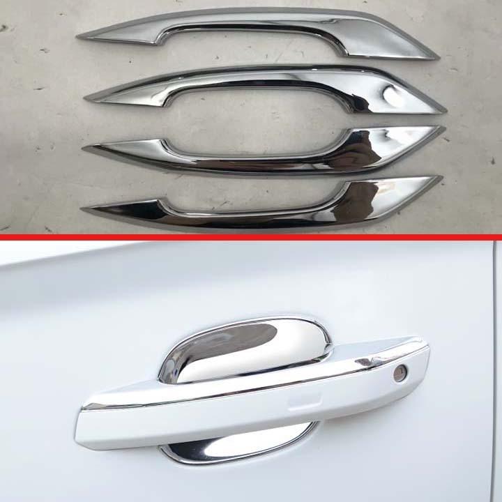 ABS, cubierta cromada de manija de puerta embellecedor de marco, accesorio de coche para Audi Q5 2018 2019 A4 B9 A5 F5 Q5