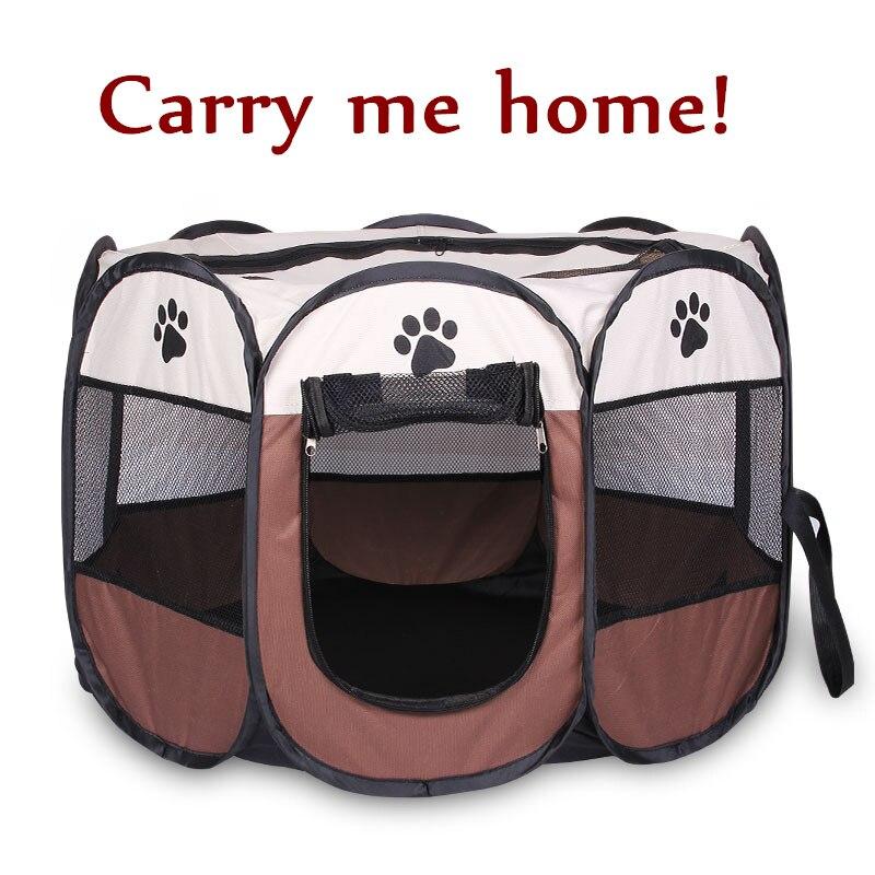 Портативная складная палатка-переноска для домашних животных, манеж для собак, кошек, забор, Щенячий питомник, вместительная складная палат...
