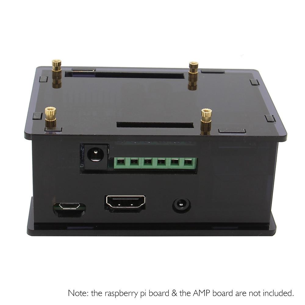 Carcasa de acrílico transparente para placa amplificadora de amplificador HIFI Raspberry Pi y Raspberry Pi 3 Modelo B + plus/3B