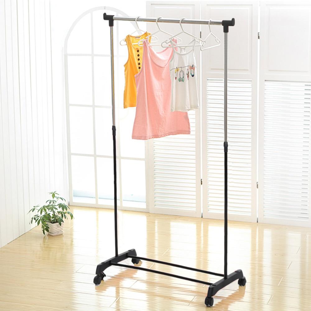 iKayaa Garment Rack Clothes Garment Hanging Rack Heavy-duty Rolling Cloth Organizer