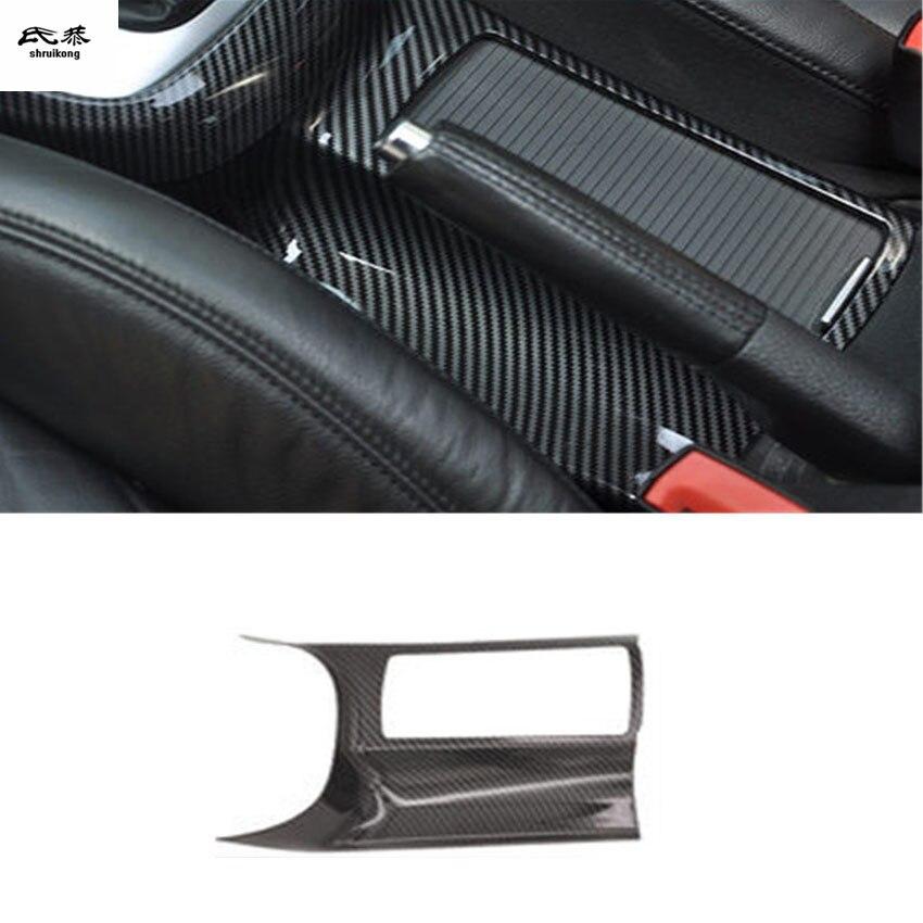 1pc voiture autocollants ABS fibre de carbone grain contrôle Central verre tasse panneau décoration couverture pour 2009-2013 Volkswagen VW golf 6 MK6