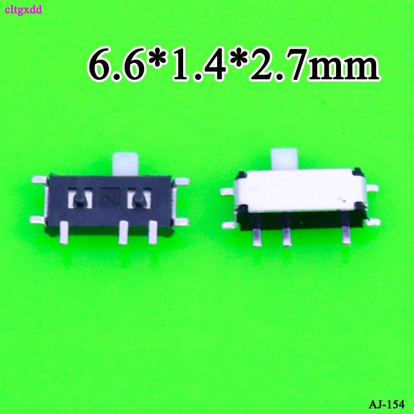 10 PCS 7 Pin Mini Slide Switch On-OFF 2 Positie Micro Slide Toggle Switch 1P2T H = 1.5 MM Miniatuur Horizontale Schuifschakelaar SMD