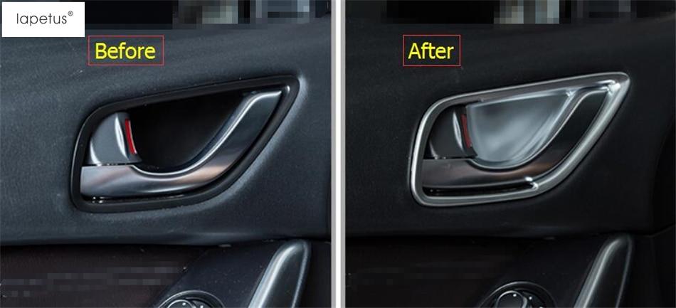 Accessories For Mazda 6 Sedan & Wagon 2016 2017 Inner Car Door Pull Doorknob Handle Bowl Frame Molding Cover Kit Trim 4 Piece