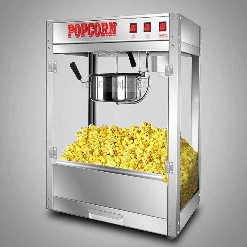 High Quality Popular Popcorn Machine Popcorn Maker Non-stick pan Commercial Popcorn Machine flower/ball shape enlarge