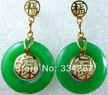 Usine direct nouveau magnifique bijoux vert gemme (vie, amour) mot chanceux boucles doreilles goutte deau zircon gemme pierre 925 CZ Fine bijoux