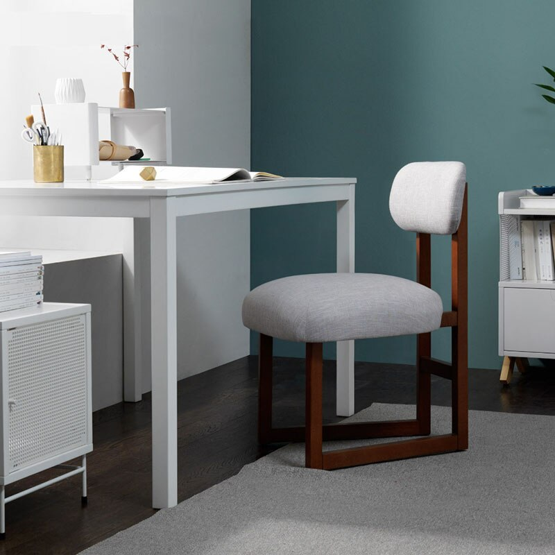 Silla suave nórdica de madera maciza restaurante competición eléctrica ocio cafetería dormitorio estudio moderno cómoda silla trasera