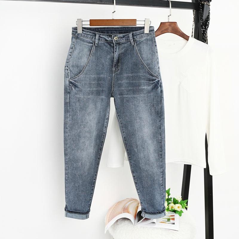 8XL Jeans Women With High Waist Harem Pants Casual Boyfriend Jeans Female Streetwear Vintage Plus Size Mom Jeans For Women Q1286