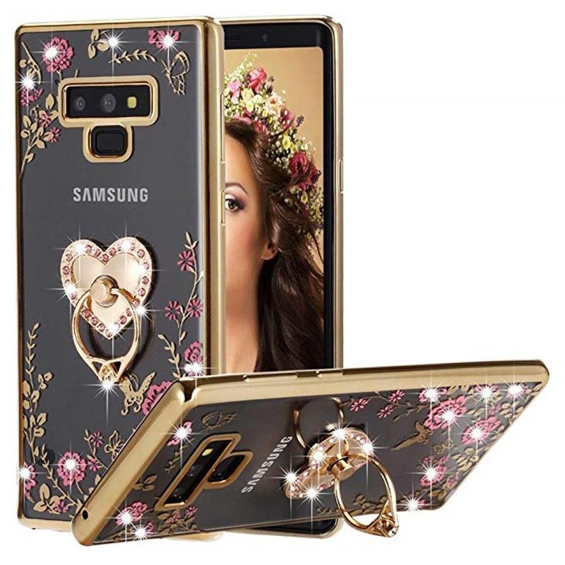 Nota 9 8 5 4 moda Bling cubierta de teléfono de TPU suave para Samsung Galaxy S8 S9 más J7 Neo J3 J5 A3 A5 A7 2016 de 2017 de la cubierta