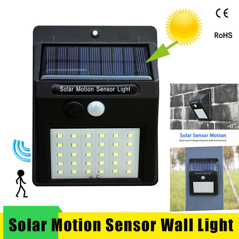 Led Solar Night Light PIR Motion Sensor Wall Waterproof 16/20/25/30 LEDs Energy Saving Outdoor Garden Security Lamp
