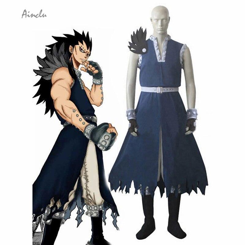 Ainclu bleu fée queue Dragon Slayer Gajeel Redfox Cosplay Costume Anime Costume pour Halloween sur mesure/personnaliser