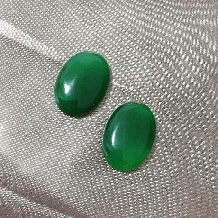 12x1 6/18x25mm DIY hallazgos Real ágata cuentas sin agujeros Natural verde cornalina cabujón joyería accesorios cabujón para anillos