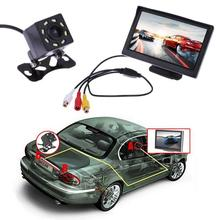 VODOOL samochód 5 cal TFT LCD widok z tyłu monitor wodoodporny noktowizor kamera cofania Backup widok z tyłu monitory samochodowe ABS