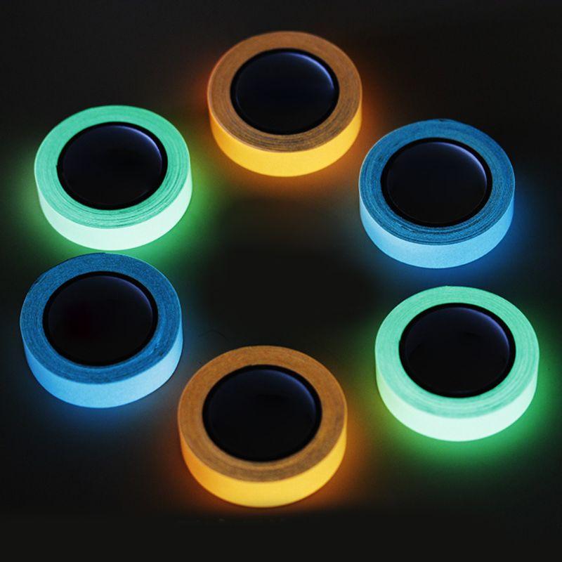 Multifunción 1 Pc 3m de cinta luminosa brillan en la oscuridad de la noche ciclismo pesca DIY DE LA SEGURIDAD advertencia cinta de seguridad Herramienta 3 colores