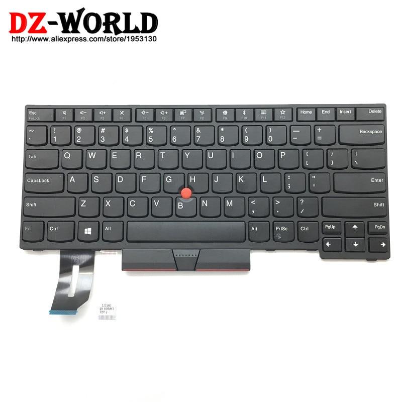New Original US English Keyboard for Lenovo Thinkpad E480 E490 T480S L480 T490 T495 L380 L390 Yoga L490 P43s Laptop
