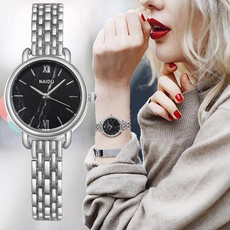 Reloj de pulsera de plata de moda 2019 para mujer, reloj de pulsera de lujo para mujer, reloj de vestir para mujer, reloj de estilo sencillo para mujer, reloj para mujer