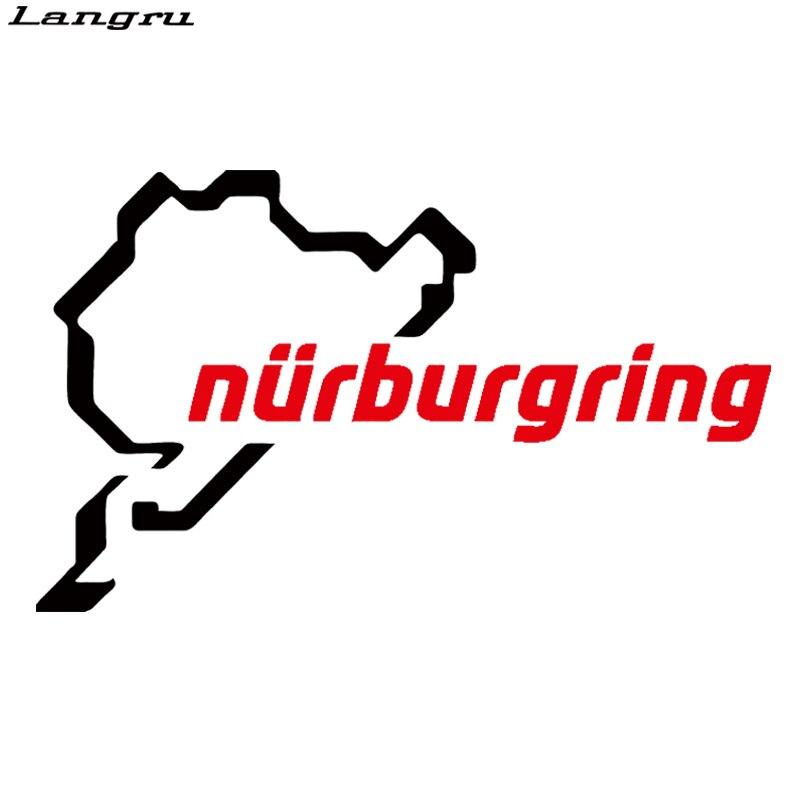 Langru Горячая продажа Nurburgring Забавный автомобиль Стайлинг гоночный автомобиль трек окно Виниловая Наклейка декоративная наклейка JDM