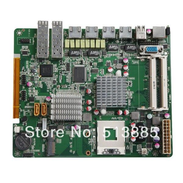 Chipset GM45 motherboard industrial, 2 * rs-232, 6 * usb, 6 * RJ45 LAN ( GM45-6LAN )