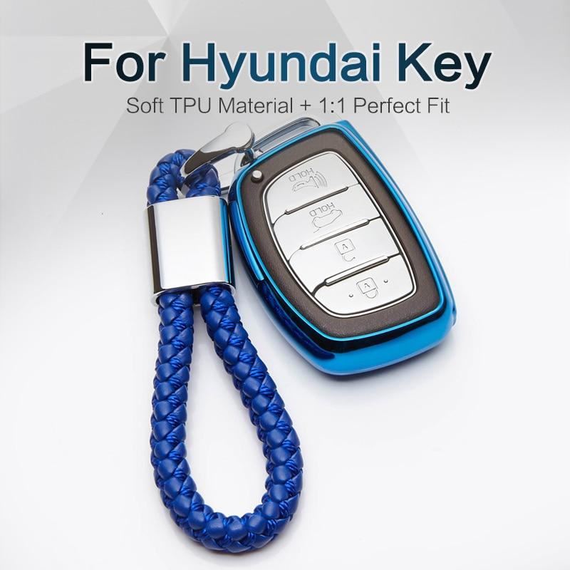Мягкий ТПУ чехол для автомобильного ключа для Hyundai 2017 2018 Solaris I10 I20 Tucson Elantra Creta Santa fe I30 Verna I40 Accent Accessories