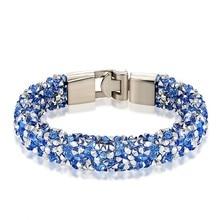 JANEYACY Merk 2017 Nieuwe Mode Kristal Armband Mannen Armband Vrouwen Armband Beste Cadeau 1-10 Kleur