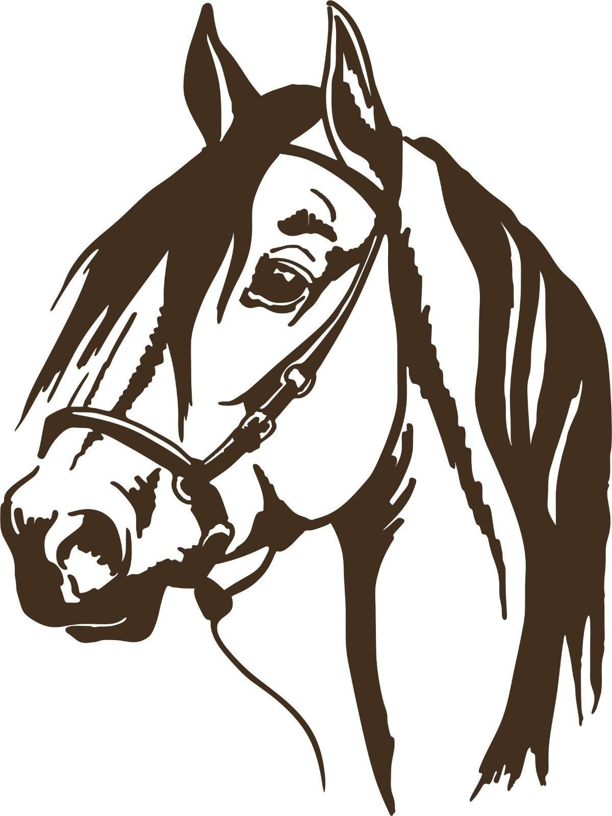 For Horse Head Cowboy Pet Rodeo Western Car Truck Trailer Window Vinyl Decal Sticker Car Styling