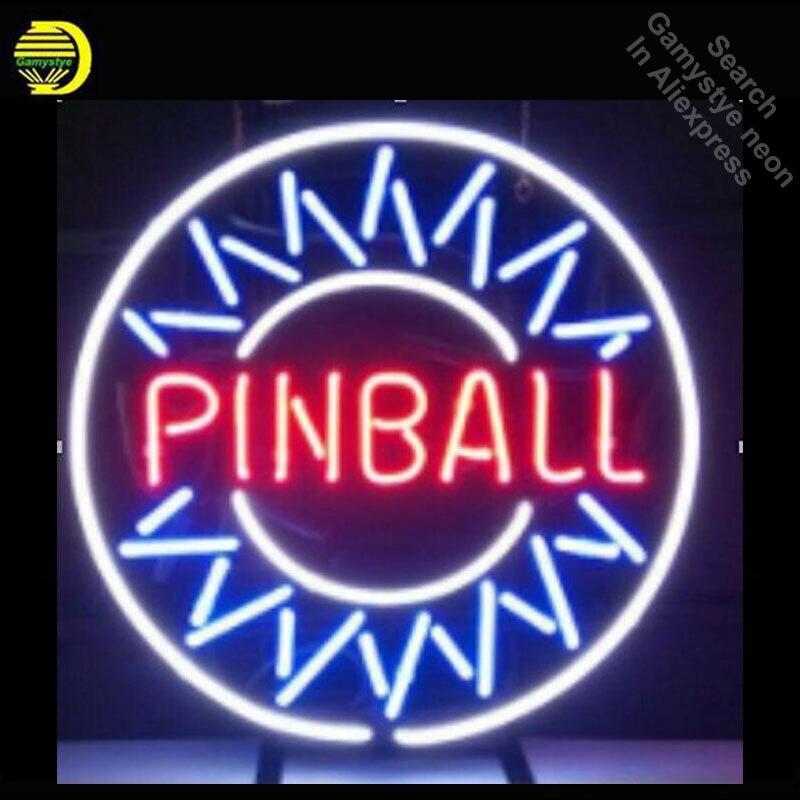 Pinball-علامات النيون ، أنبوب زجاجي حقيقي ، مصابيح لوحة نيون ، لوحة إعلانات احترافية