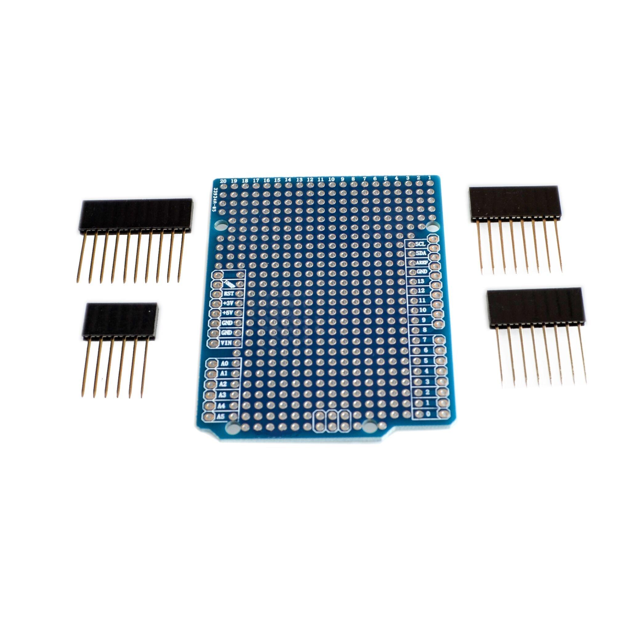 Placa de expansión prototipo de PCB para Arduino ATMEGA328P UNO R3 Shield, placa de pruebas de PCB de fibra de FR-4, inclinación de 2mm y 2,54mm con pines DIY
