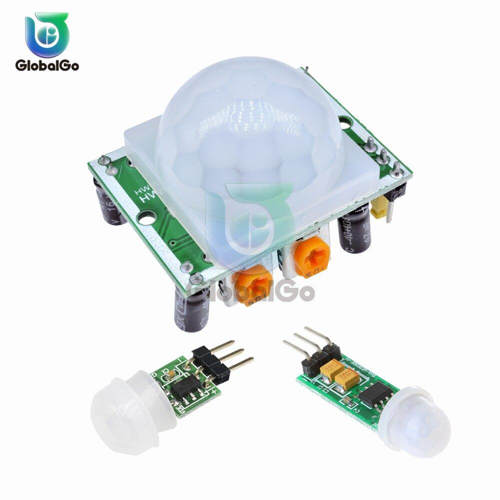 AM312 HC-SR501 HC-SR505 Ajuste IR Infravermelho Piroelétrico PIR Mini Suporte de Detector De Sensor Humano Módulo para Arduino