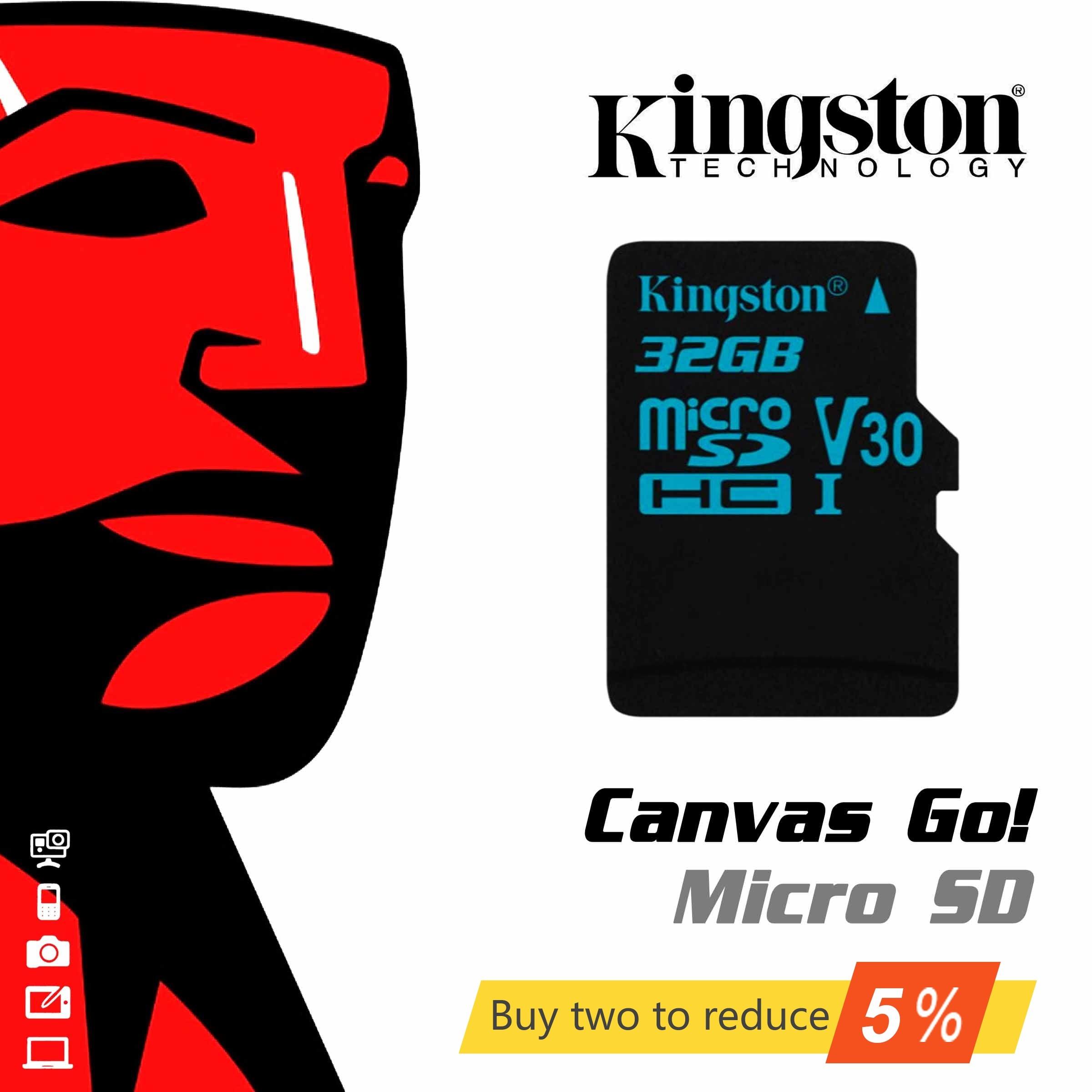 Original de Kingston Digital 32GB 64GB microSDHC UHS-I velocidad de ir a clase 10 tarjeta de memoria Flash (SDCG2/32GB/64GB/128GB)
