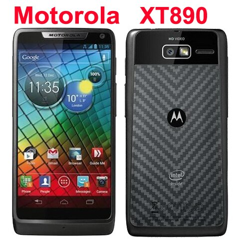 "Refurbished Original Motorola RAZR i XT890 Mobile Phone Unlocked Android 4.0 8GB 8MP 3G Wifi GPS 4.3"" Touchscreen Smartphone"