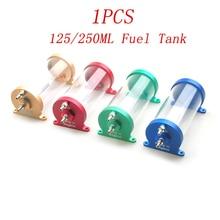1PCS 125ml 250ml Kraftstoff Tank CNC Anti-blase Öl Lagerung Box Ersatzteile für RC Flugzeug boot Benzin Motor Benzin Turbojet