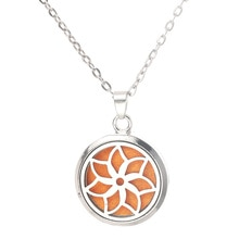 Beautiful Pattern Aroma Box Pendant Necklace Magnetic Aromatherapy Essential Oil Diffuser Perfume Bo