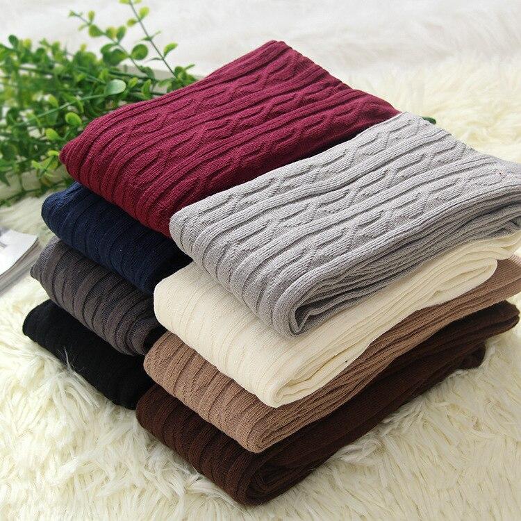 New Design High Quality Thigh High Over the Knee Socks Long Twist Cotton Stockings  Women Winter Warmer Soft Knit Crochet Sock