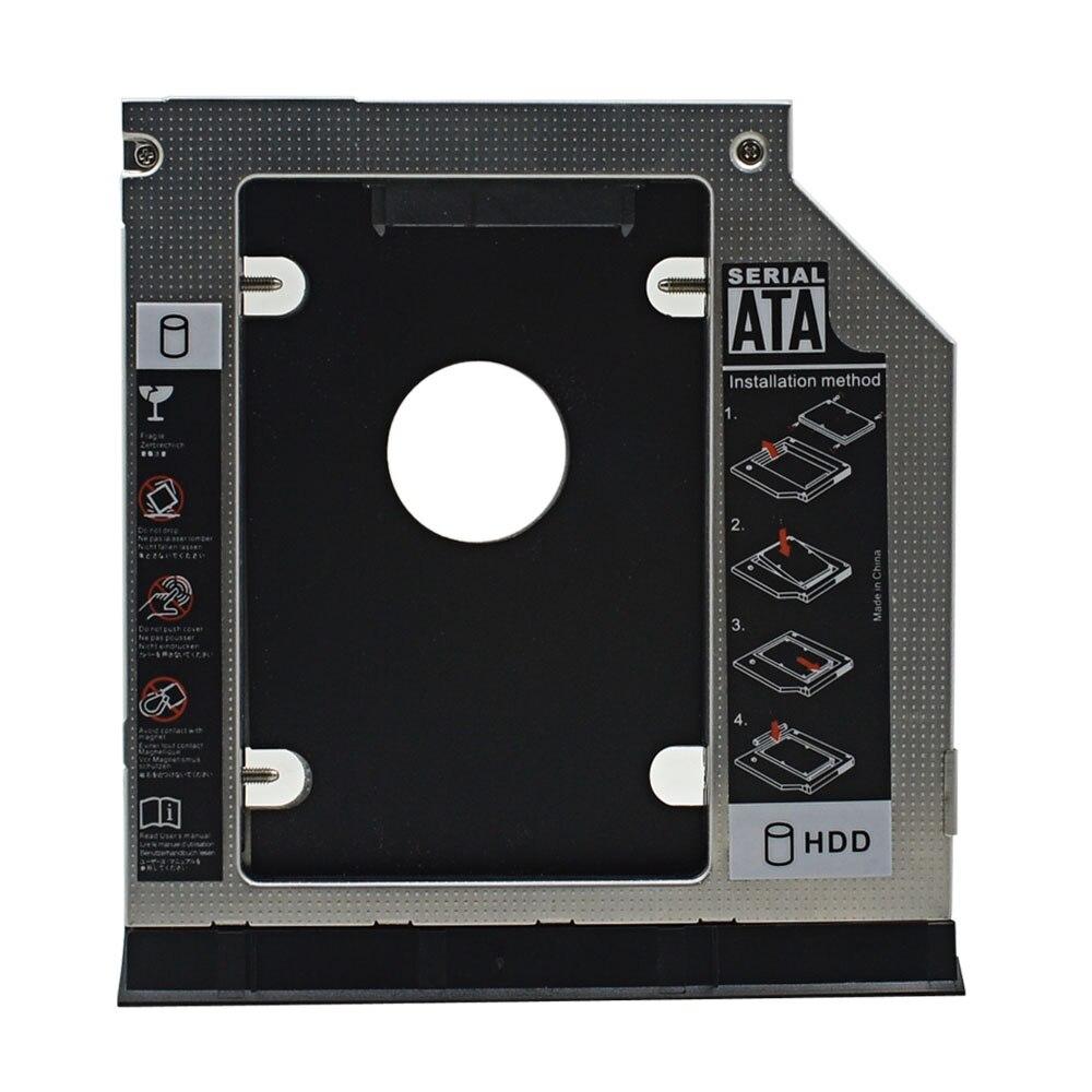 TISHRIC 2nd SSD HDD Sata 9.5 Caddy Adapter Optibay Enclosure For Dell Latitude Inspiron E6320 E6420 E6520 E6330 E6430 E6530 Case