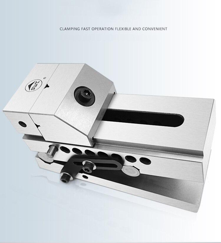 """Amoladora sinoidal QKJ80/3,2 """"de inclinación rápida, de mandíbula paralela, tornillo basculante, utilizado para rectificadora de superficies, fresadora"""