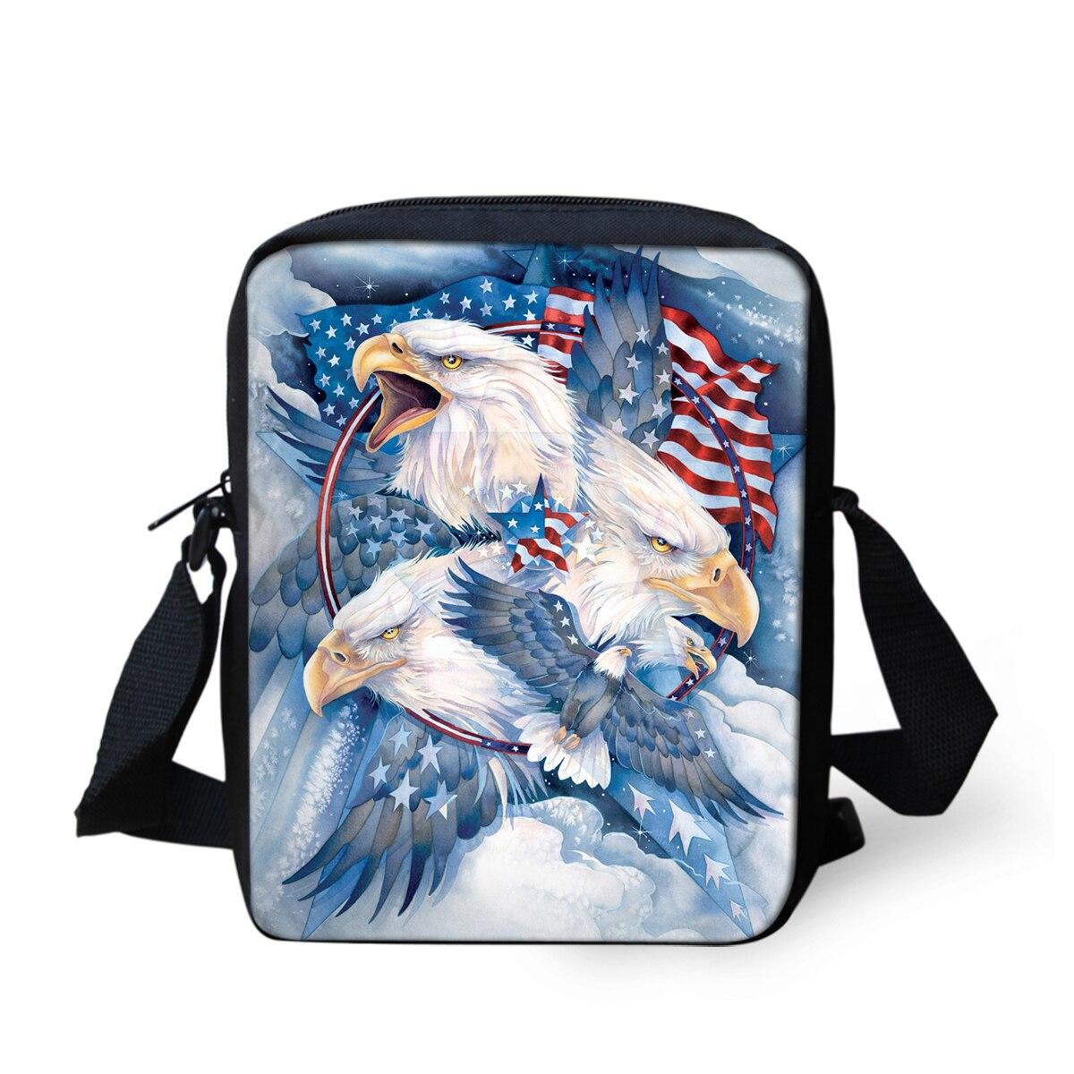THIKIN, bolsos de mensajero para niñas, estilo Animal americano, Mini bolsos cruzados de viaje para niños, mochila escolar ligera, bolso de hombro