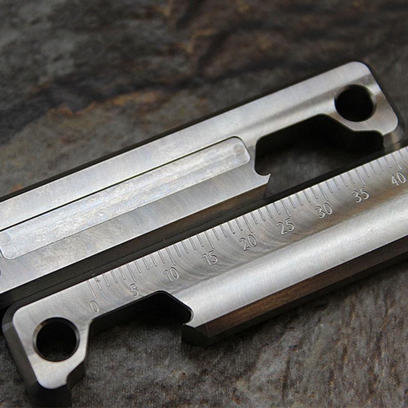 سلسلة مفاتيح من سبائك التيتانيوم ، فتاحة زجاجات ، مقياس ، أداة جيب EDC ، معدات التخييم