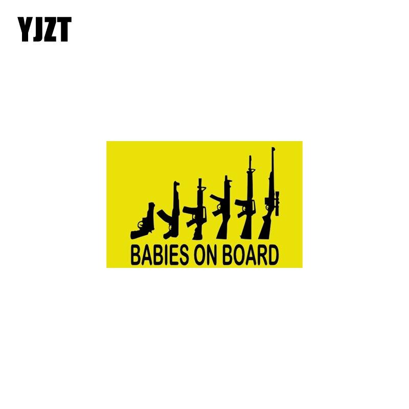 YJZT 15,8 CM * 8,4 CM chicas en lDecal pegatina de advertencia para coche de PVC de 12-40070