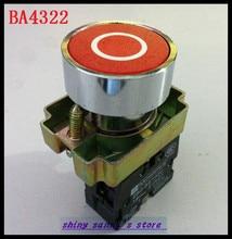 BA4322 1 NC bouton-poussoir   Signe rouge momentané, chasse à boutons, 1 NC, 10 pièces/lot