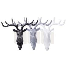 Deer Kopf Schlüssel Halter wand haken Selbst Kleber Kleidung Display-Racks Haken Kleiderbügel Room Decor Zeigen Wand Tasche Schlüssel sticky Halter