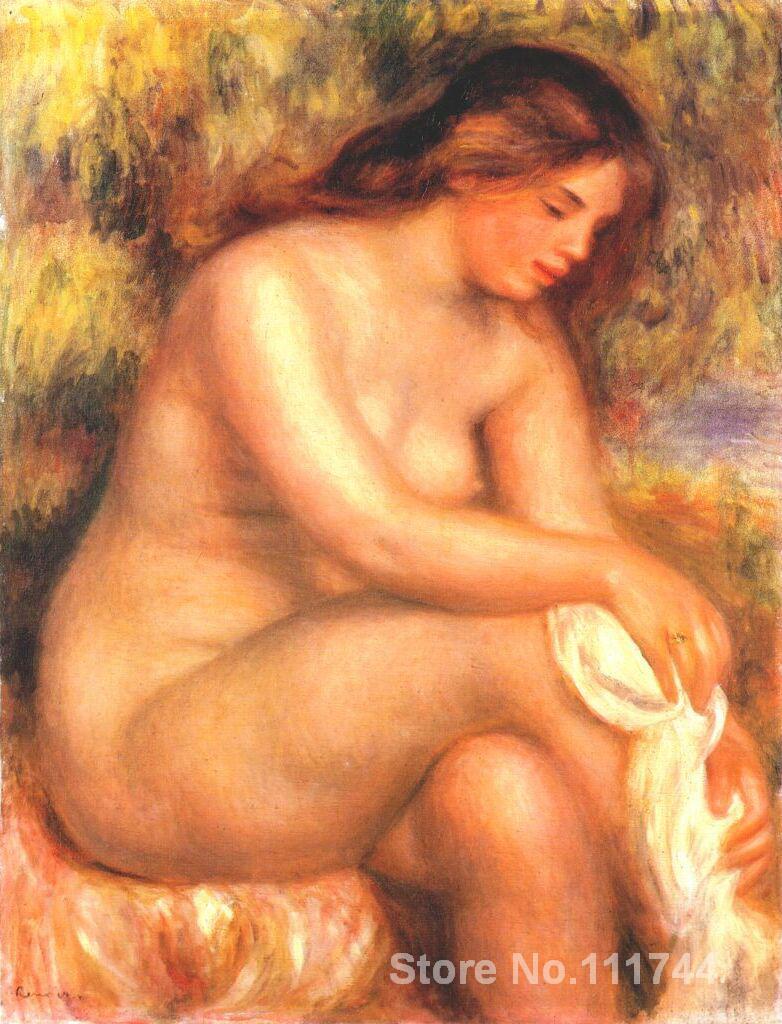 Pinturas Nude de Peter Auguste renair Bather secando su arte de reproducción de piernas de alta calidad pintado a mano