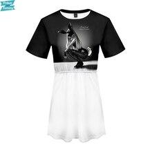 Ariana Grande 3D Printed Women Dress Fashion Summer Short Sleeve Dresses Hot Sale Casua Trendy Streetwear Clothes 2019