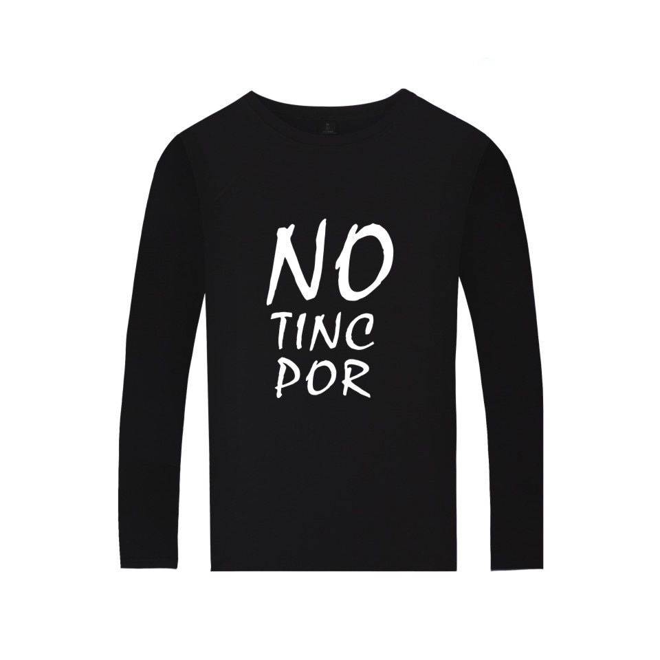 España NO TINC POR la última camiseta de moda hombres mujeres ropa carta imprimir We Are Not Afraid Camisetas Camiseta de manga larga