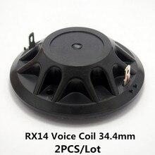 Finlemho Hochtöner Lautsprecher Stimme Spule Membran Titan Reparatur Kit 34,4mm Für Professionelle Peavey RX14 HF DJ Audio Mixer 2 PCS