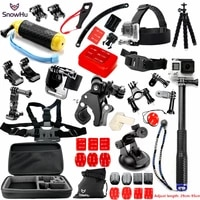 snowhu for gopro accessories set for go pro accessories for gopro hero 9 8 7 6 5 4 3 kit for sjcam yi 4k camera eken gs28