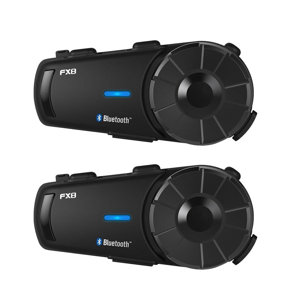 Fodsports 2 шт. FX8 мотоциклетный шлем Интерком 8 Rider 1000 м шлем Bluetooth гарнитура группа Интерком Moto Intercomunicador FM