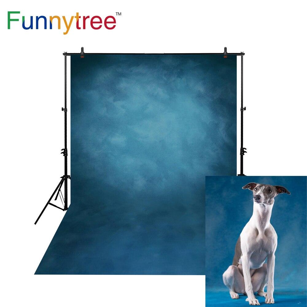 Funnytree fotografía fondos azul oscuro color puro fino vinilo tela impresión por ordenador Decoración de fondo para MH-076 estudio
