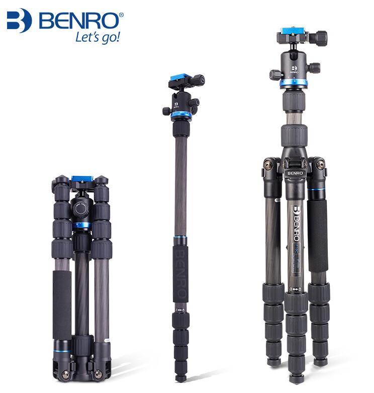 Штатив benro из углеродного волокна с одной обратной камерой, штатив для фотосъемки IF19C портативная, ролик для ковра