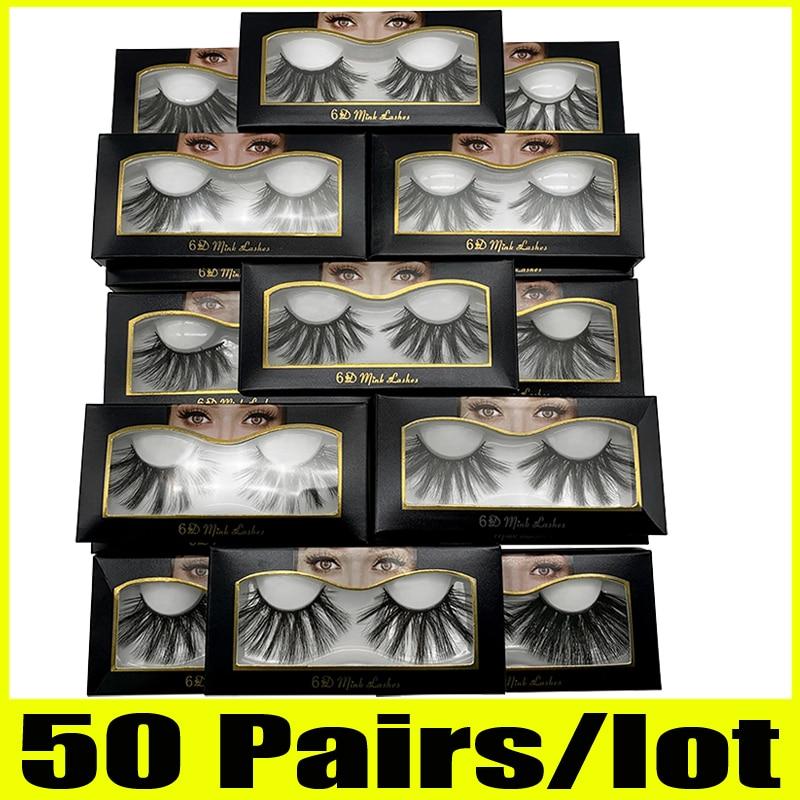 20/30/50 Pairs 25mm Lashes Wholesale 25 mm False Eyelashes Thick Strip 25mm 3D Mink Lashes Makeup Dramatic Long Mink eyelashes