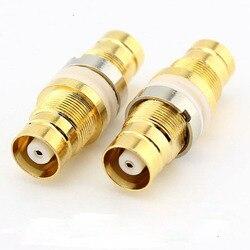 10 pcs RF Conector Coaxial L9-KKY L9-Pass Duplo Tomada Para Comunicações Conjunta Conector de Cobre Cheio