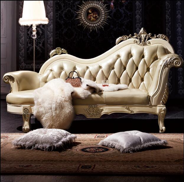 Gorąca sprzedaż Sofa francuski projekt skórzane kanapy meble do salonu kanapa leżak 1968